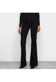 Calça Jeans Flare Acostamento Feminina - Feminino