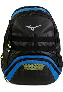 Mochila Mizuno Player High - Unissex-Preto+Azul