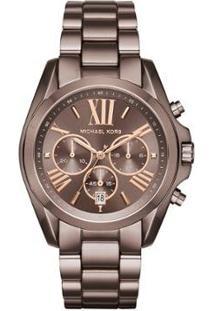 Relógio Michael Kors Bradshaw Feminino - Feminino-Marrom