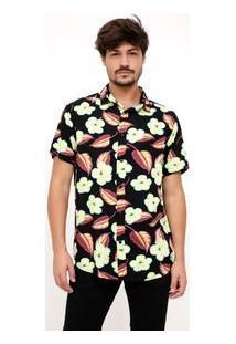 Camisa Com Estampa Floral Em Viscose