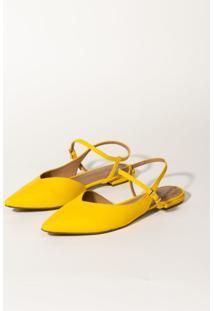 Sapatilha Bico Fino Lanã§A Perfume Sapatilha Amarelo - Amarelo - Feminino - Dafiti