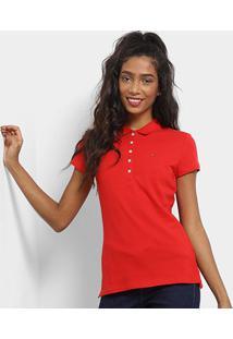 Camisa Polo Tommy Hilfiger Básica Feminina - Feminino