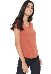 Camiseta Redley Lisa Laranja