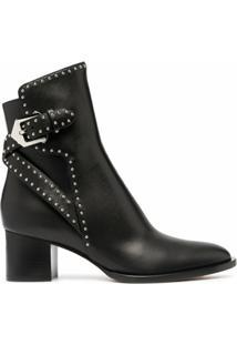 Givenchy Ankle Boot Elegant Com Salto Médio - Preto
