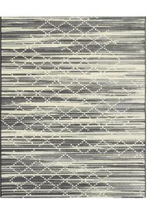 Tapete Classe A Abstrato- Preto & Off White- 290X200Tapete Sã£O Carlos