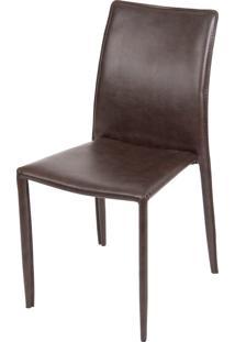 Cadeira De Jantar Glam Retro Ordesign Marrom - Marrom - Dafiti