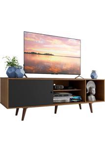 Rack Madesa Dubai Para Tv Até 65 Polegadas Com Pés - Rustic/Preto/Rustic Marrom