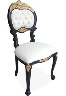 Cadeira Verona Entalhada Madeira Maciça Design De Luxo Peça Artesanal