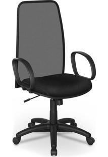 Cadeira Presidente Tela Master Preto Bra - Preto - Dafiti