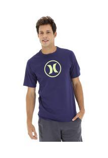 Camiseta Hurley Silk Círculo - Masculina - Roxo