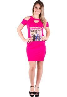 Vestido Blusão Com Estampa - Banna Hanna - Feminino