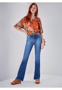 Calça Jeans Bootcut Cintura Alta Original Jeans