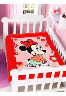 Cobertor Disney Jolitex Infantil Para Bebê - Vermelho