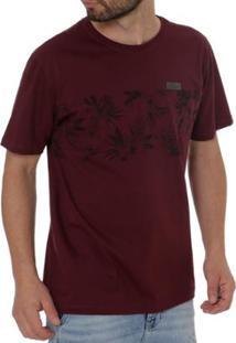 Camiseta Full Surf Manga Curta Masculina - Masculino-Bordô