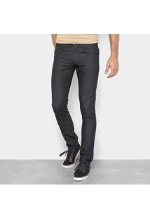 Calça Jeans Preston Tradicional Masculina - Masculino-Preto