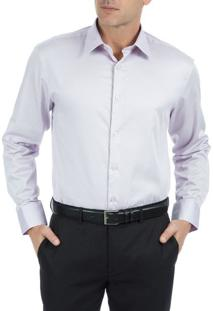 Camisa Masculina Lisa Empório Colombo Lilás