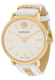 ba8910ad9ae Farfetch. Relógio Giani Versace Feminino Branco Aço Inox Vidro Couro ...