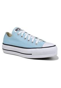 Tênis Converse All Star Chuck Taylor Lift Flatform Converse Azul
