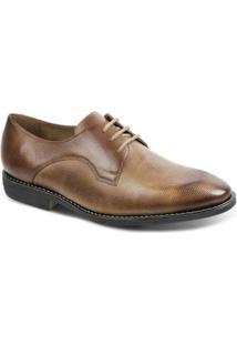 Sapato Social Masculino Derby Polo State - Masculino-Marrom Claro