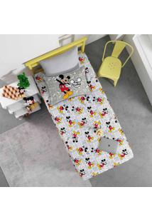 Jogo De Cama Portallar Solteiro Malha Estampado Disney 2 Peças Joy Mickey Fun