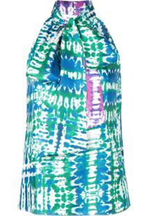 Prabal Gurung Blusa Tie Dye - Azul