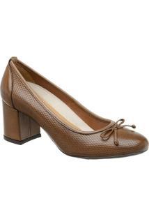 Sapato Tradicional Em Couro Com Laã§O- Marrom Claro- Mr. Cat