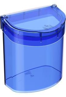 Lixeira De Pia Glass 2,7 Litros Azul Coza