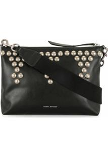 Isabel Marant Nessah New Studded Crossbody Bag - Preto