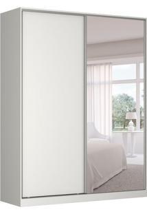 Guarda-Roupa Solteiro Com Espelho Tunas Iii 2 Pt 3 Gv Branco