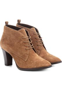 Bota Couro Cano Curto Shoestock London Fog - Feminino-Caramelo