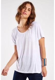 Camiseta Sacada Malha Básica Amassadinha Feminina - Feminino