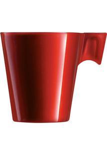 Conjunto De 4 Xícaras Para Café Napoli 80Ml Gourmet Mix Vermelha