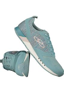 55cd3c5f901 Amazon. Calçado Tênis Feminino Eva Sintético Fosco Azul Flashback Olympikus
