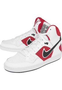 Tênis Nike Sportswear Son Of Force Mid Branco/Vermelho