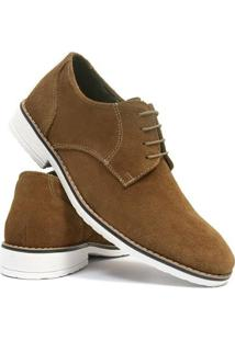 Sapato Casual Salazari Casual Oxford Couro Masculino - Masculino-Marrom