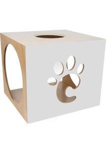 Nicho Carlu- Bege Claro & Cinza- 33X38X36Cm- Carcarlu Pet