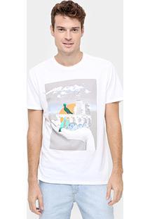 Camiseta Reserva Colagem - Masculino-Branco