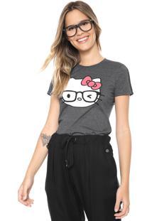 Blusa Cativa Hello Kitty Estampada Grafite
