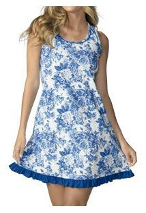 Camisola Floral Demillus Blue (230245) 100% Algodão