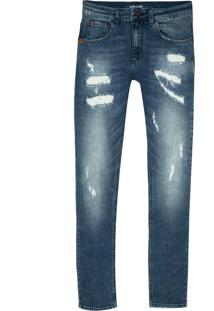 Calça John John Super Skinny Loanda Jeans Azul Masculina (Jeans Medio, 44)