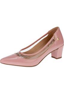 Sapato Scarpin Lu Fashion Cristal Transparente Rosa