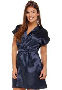 Robe Feminino Adulto Luna Cuore - Feminino-Marinho