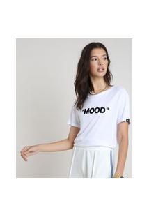 "Blusa Feminina Mood"" Manga Curta Decote Redondo Branca"""