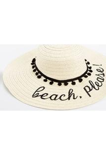 Chapéu De Praia Feminino Pompom Marisa