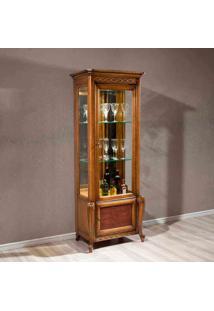 Cristaleira Hillux Com Porta Madeira Maciça Design Clássico Avi Móveis