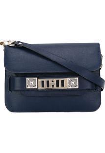 Proenza Schouler Bolsa Tiracolo Mini 'Ps11' De Couro - Azul