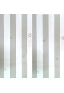 Kit 3 Rolos De Papel De Parede Fwb Lavável Listrado Cinza E Branco