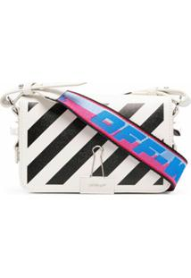 Off-White Bolsa Diag Flap Mini - Branco