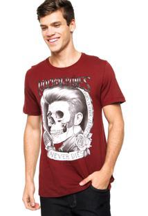 Camiseta Sommer Bones Vinho