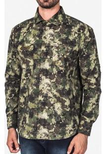 Camiseta Hermoso Compadre Militar Tropical Masculina - Masculino-Verde
